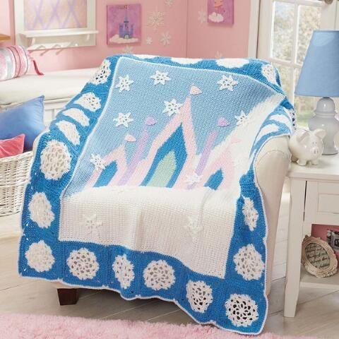 Herrschners®  Ice Castle Baby Blanket Crochet Afghan Kit