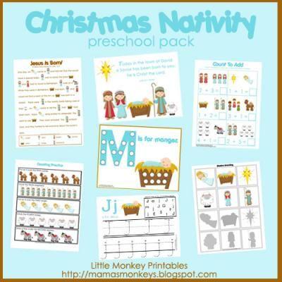 Our Little Monkeys: Christmas Nativity Preschool Pack {FUNDRAISER}