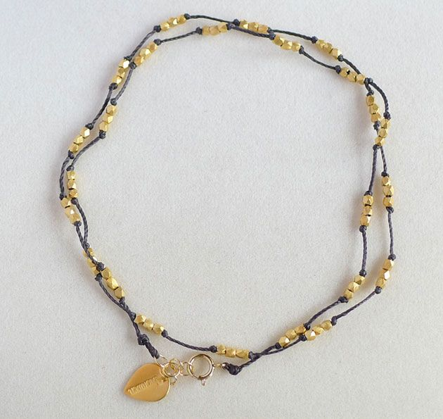 Thai Trail Anklet Silver/Gold  Colors