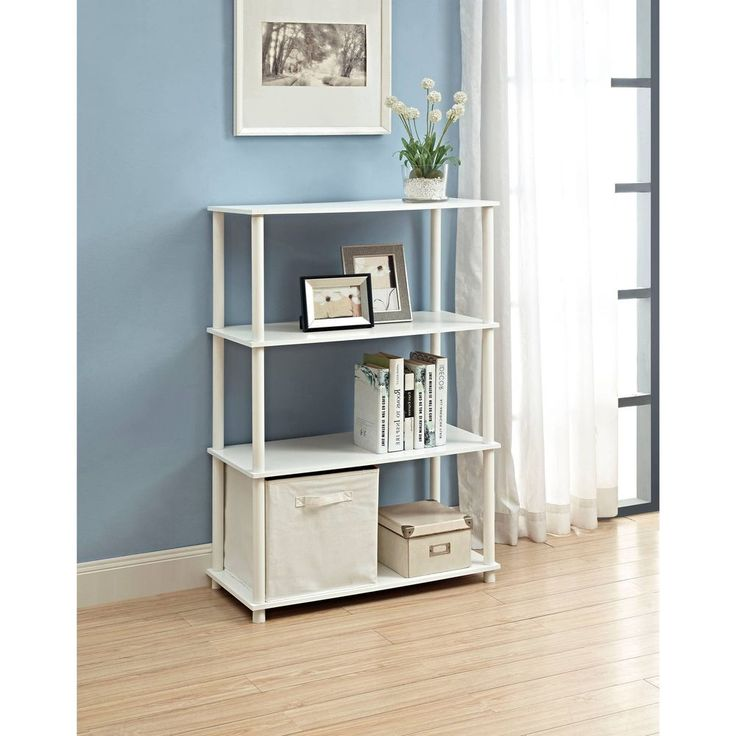 6-Cube Organizer White Storage Shelf Organizer Home Office Furniture Shelves New #6CubeOrganizer