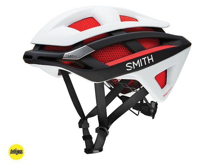 Smith - Overtake Matte Red-White-Black - MIPS Bike Helmet