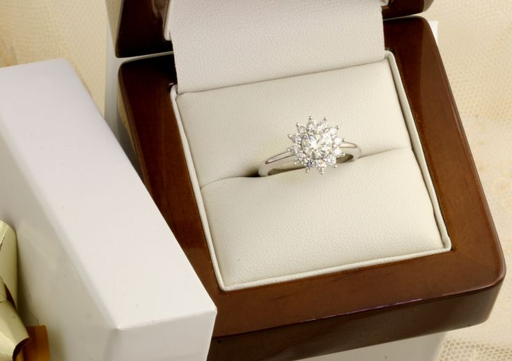A divine diamond cluster reminiscent of a beautiful flower in 18ct white gold.