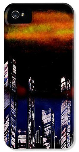 Capital Of The Other Land IPhone 5 / 5s Case Printed with Fine Art spray painting image Capital Of The Other Land by Nandor Molnar (When you visit the Shop, change the orientation, background color and image size as you wish)