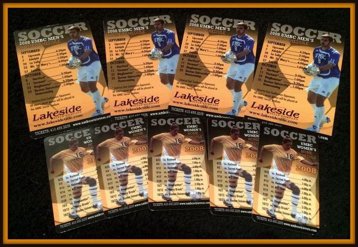 LOT OF 9 2008 U OF MARYLAND BALTIMORE COUNTY RETRIEVERS SOCCER MAGNET SCHDULES #MagnateSchedule #MagnetSchedule