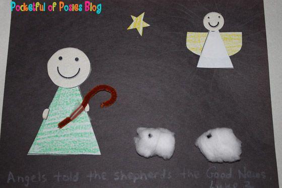 Sunday School Crafts: Shepherd & Angel Craft with free printable