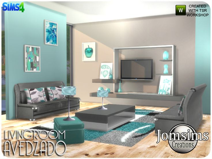 Here Living Room Avedzado . Colored And Confortable With Modern Lines.  Found In TSR Category
