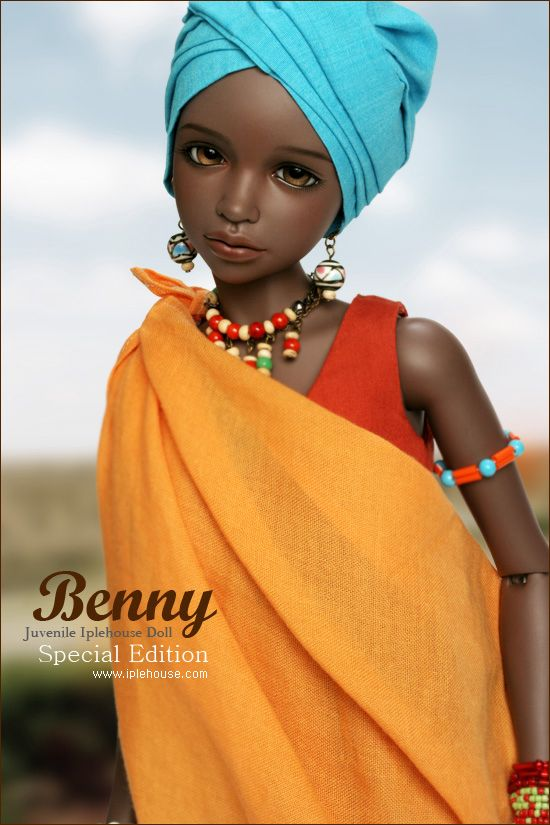 cool, and African stylized bjd, I've never seen one like this :3