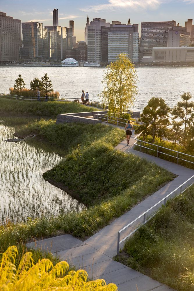 Gallery Of Hunter S Point South Waterfront Park Phase Ii Swa Balsley Weiss Manfredi 5 With Images Landscape Model Park Landscape Landscape Plans