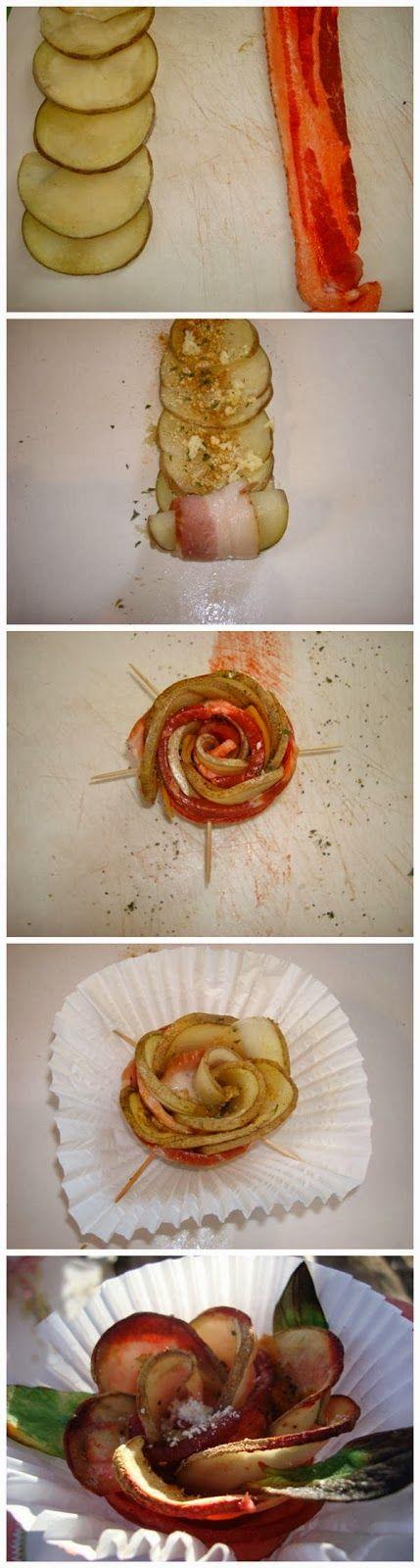 No Fail Bacon and Potato Rose
