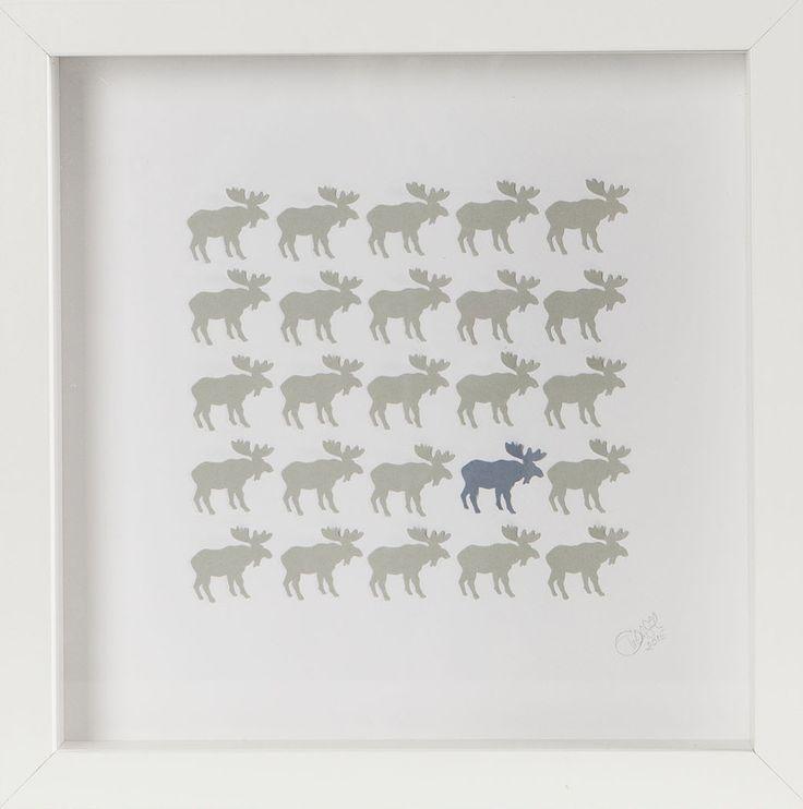 Łoś, moose, dekoracje na ścianę, scandinavian, decoration, craft, moose craft, homedecor, Handmade, paperart, paperwork