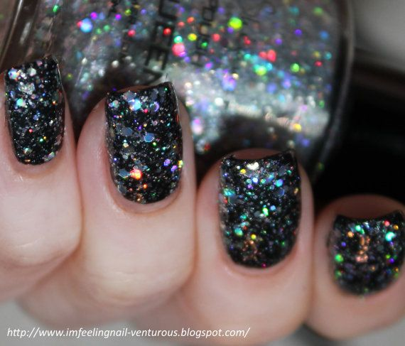 Ice Queen Nail Polish - Holographic Glitter Nail Color - 0.5 oz Full Sized Bottle on Etsy, $8.75