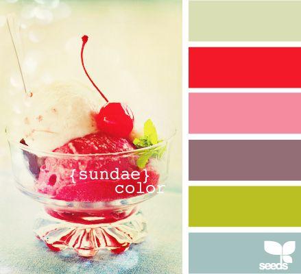color palette: Sundae Color, Color Palettes, Color Inspiration, Design Seeds, Color Combos, Colors Design, Bright Colors, Colors Ideas