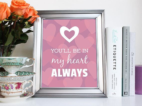 """""""You'll be in my heart always"""" Quote from Tarzan  Art Print by ElainaLynn on Etsy"""
