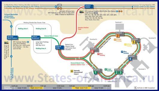 Схема аэропорта Джона Кеннеди