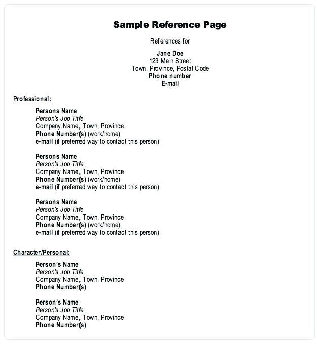 Resume Examples References Examples References Resume Resumeexamples Resume References Reference Page For Resume References Page