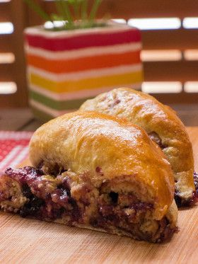 HBで甘〜いぃ♪ブルーベリー&チョコパン [Blueberry Chocolate Bread]