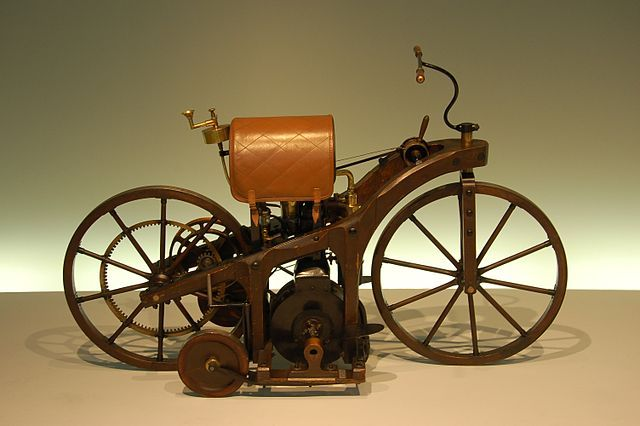 Gottlieb Daimler's Reitwagen, the world's first motorcycle. #Daimler #Motorcycle