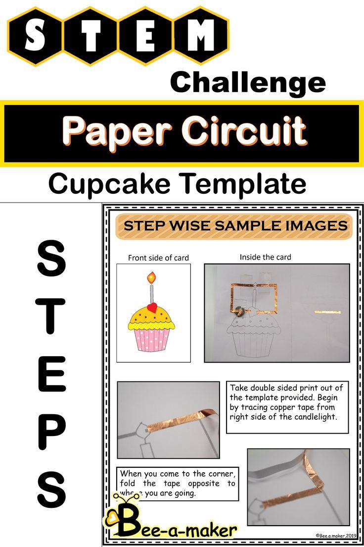 paper circuit light up card  paper circuits cards stem