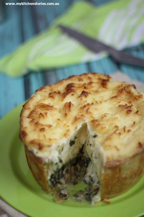 Chicken cottage pie with feta mash