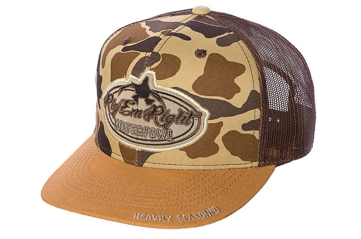 Camo Front New Bill Trucker Hat :: Rig'Em Right Waterfowl :: Hunting Gear, Apparel, Clothing, Hats, Beanies & More... Based in Morehead City, NC