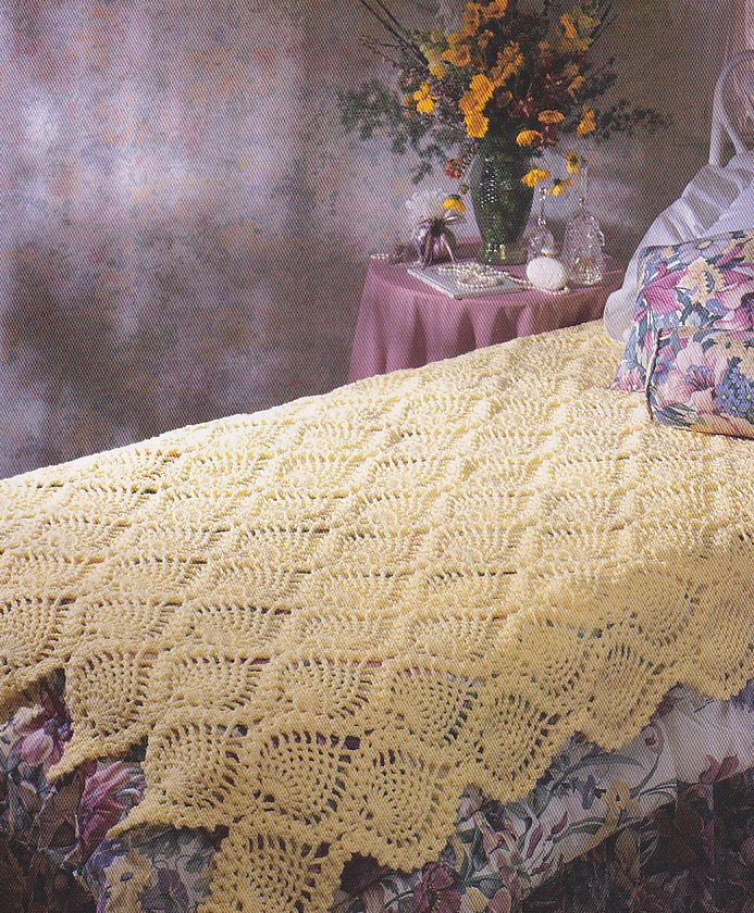 Crochet Pattern ~ PINEAPPLE PERFECTION AFGHAN ~ Instructions