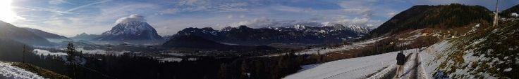 Panoramafoto Winterwanderung