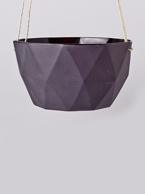 Coal Hex Planter | Hello Polly