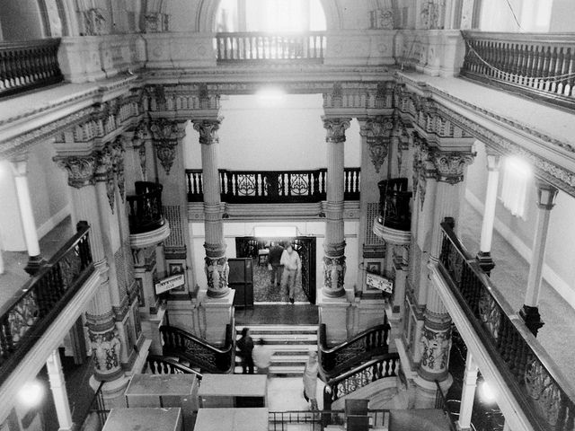 Inside the Federal Coffee Palace before demolition Collins St by Graeme Butler, via Flickr