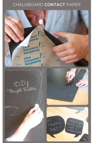 DIY chalk board thought bubbles