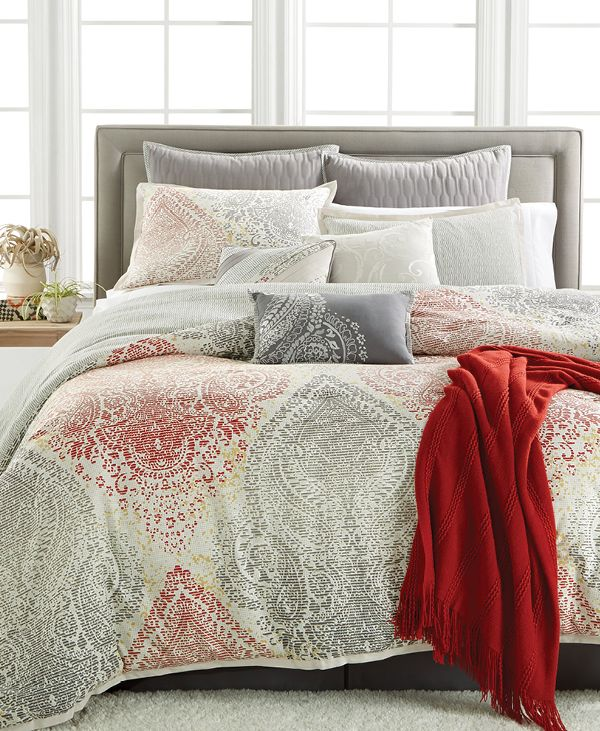 Create A Luxe Bedroom Look With This Damask Inspired Kensington 10 Piece  Comforter Set