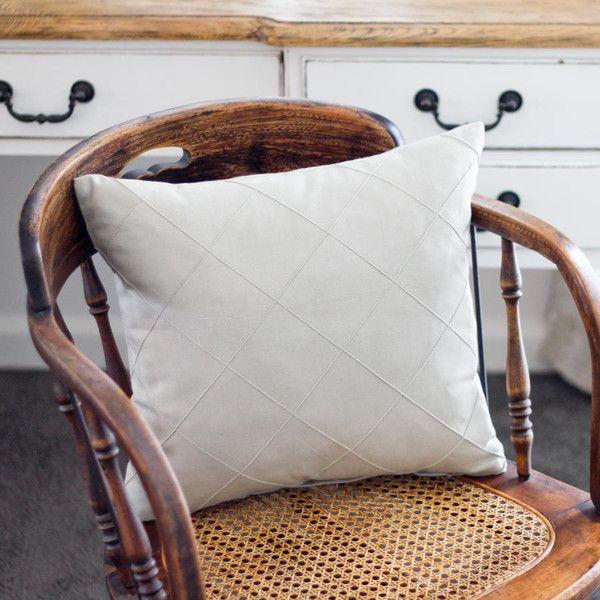Beige Stitch Cushion