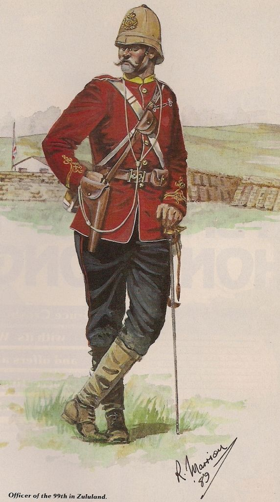 Officer 99th Foot Zululand 1879 by R Marrion, originally published in Military Modelling Magazine June 1990