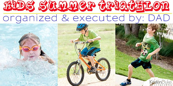 Tips and ideas for planning a kid's triathlon race this summer - plus photography tips for outdoor events | KristenDuke.com