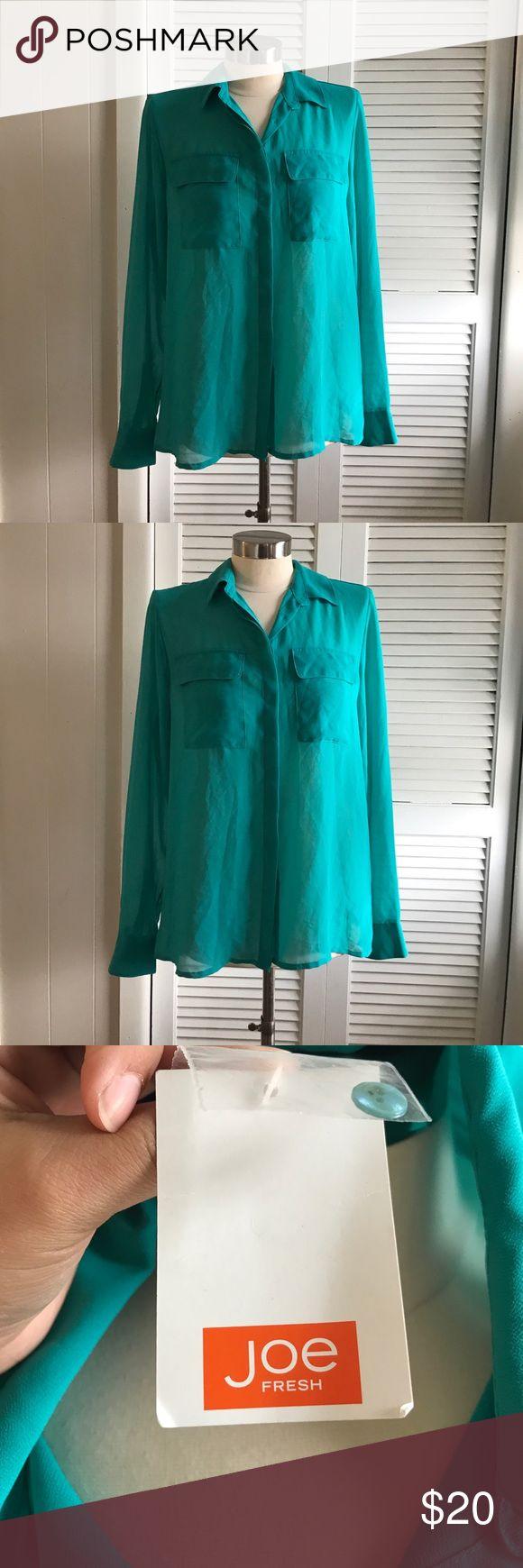 Joe fresh button down blouse Joe fresh button down blouse size medium brand new with tags Joe Fresh Tops Button Down Shirts