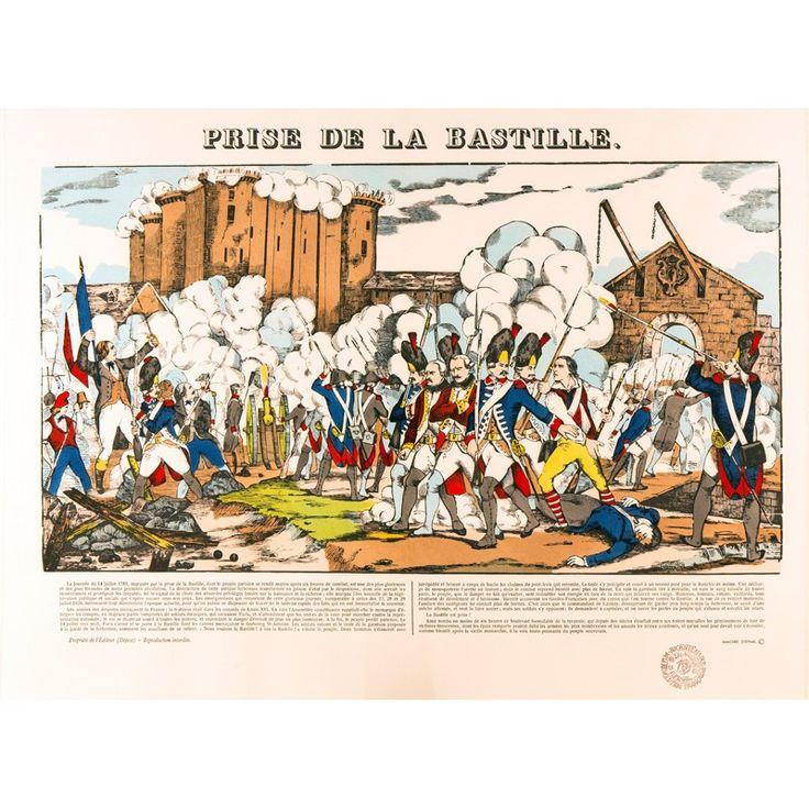 PRISE DE LA BASTILLE - Imagerie d'Épinal
