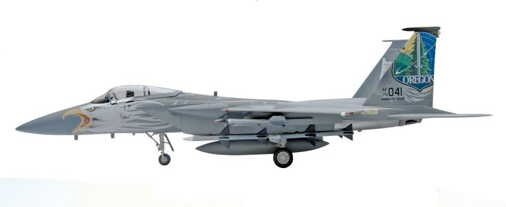 F-15C Eagle 1/48 scale plastic model kit from Revell, 89 parts, Level 4 paint and glue kit. Features include special decals for Oregon ANG, 173rd Fighter Wing 75th anniversary plus missiles, drop tank, and optional open nose cone. # 85-5870 Available on towerhobbies.com