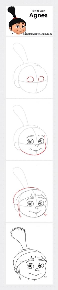 How to draw Agnes (Despicable Me)