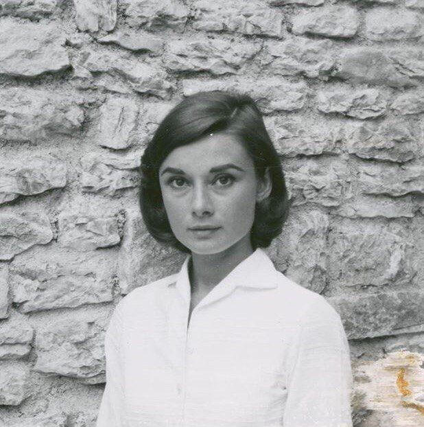 @thedottis at Instagram: Anniversary Special, for all her friends and fans that don't forget her spirit. Borghese Gardens, Rome, 4th May '58, Whilst filming Nun's Story, personal archive, Polaroid, author unknown.