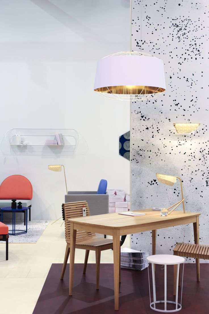 Salone del Mobile - Milano.  The Lanterna pendant lamp by Sam Baron. The Market collection and the Mediterranea floor and wall lamp by Noé Duchaufour-Lawrance. Salone del Mobile - Milano.