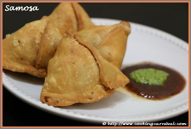 A Samosa is a fried or baked pastry with savory filling. Its size and shape may vary, but typically it is distinctly triangular shape. Samosa is usually accompanied by a mint chutney and sweet chutney. It is very popular entree, appetizer or snack. Now a day's Samosa is very popular all over the wor…