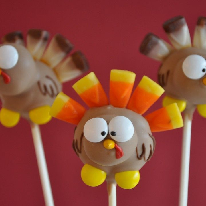 Images Of Turkey Cake Pops : 30 best images about Lil  Cutie Pops on Pinterest