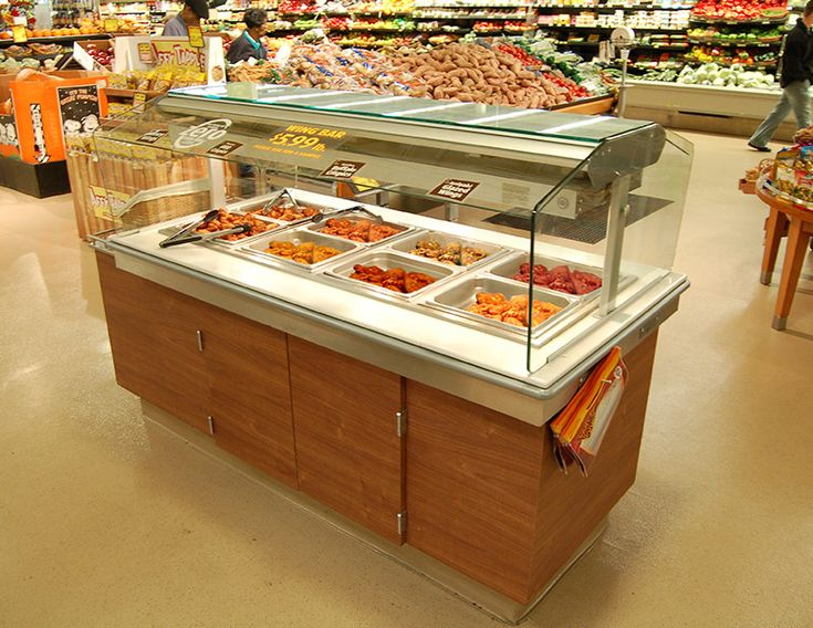 SSB-N - Narrow Food Bar:  Southern's SSB-N is the narrow member of the SSB food bar family. It is the answer for stores who desire a fresh foods bar but have floorspace restrictions facing them. With various hot and cold options, a platform of configurations and sizes, and a large array of optional materials and finishes, the SSB-SS can be the versatile solution of your food bar program.
