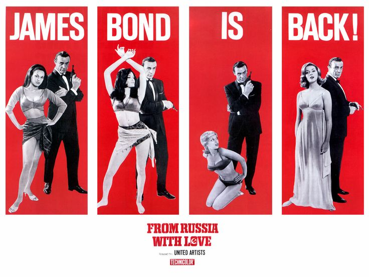From Russi With Love: James Of Arci, 007Jame Bond, James Bond, Bondjam Bond, Movie Postersmag, 1960S Movie, Bond 007, Sean Connery, 007 James