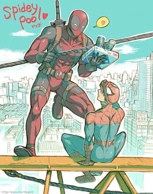 Marvel Universe - Wade Wilson x Peter Parker - Spideypool
