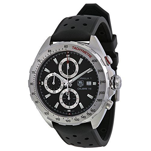 Men's Wrist Watches - Tag Heuer Mens CAZ2010FT8024 Formula 1 Stainless Steel Swiss Automatic Watch With Black Rubber Strap >>> Want to know more, click on the image. (This is an Amazon affiliate link)