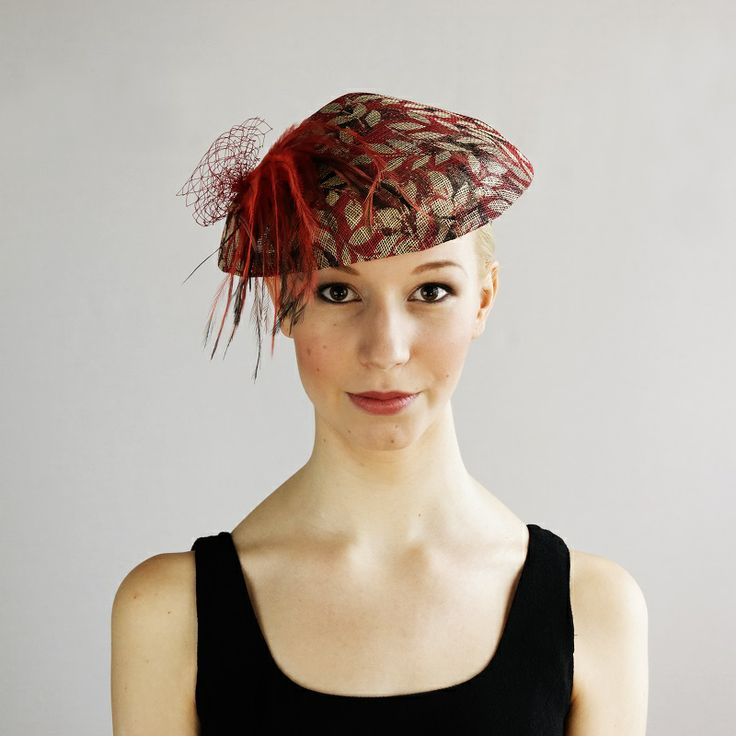 av Annina SS 2014 fascinator, hat, red feathers www.avannina.fi #avannina #fascinator