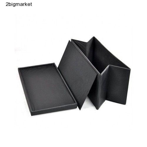 Folding Storage Stool Box Ottoman Large Bench Kids Bedroom Toys Seat Black Gift  #AshleyMills
