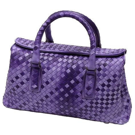 Discount Designer Woven Leather Purses RLLH840 Purple