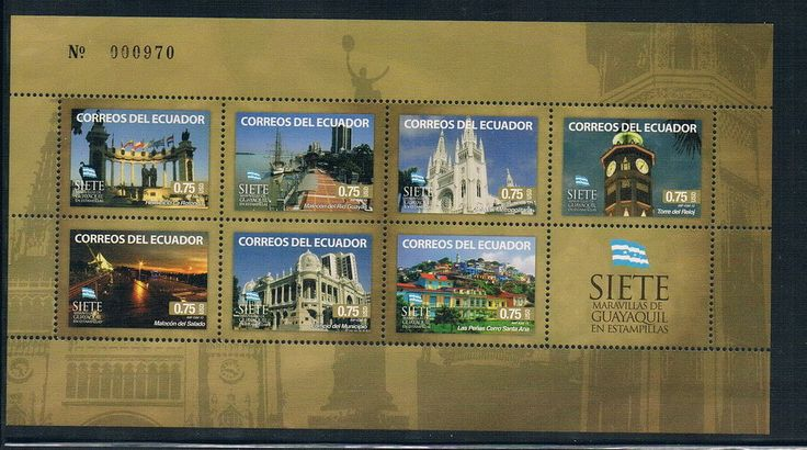 AA0672 Ecuador 2012 Guayaquil miracle flag stamps 1MS new 1005