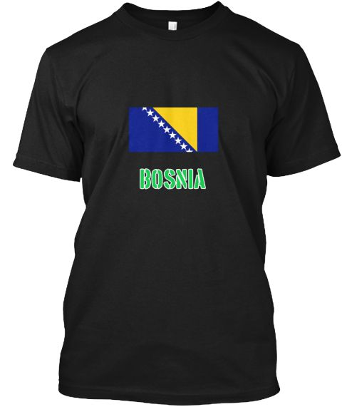 Bosnia Flag Stencil Green Design Black T-Shirt Front - This is the perfect gift for someone who loves Bosnia. Thank you for visiting my page (Related terms: I Heart Bosnia,Bosnia,Bosnian,Bosnia Travel,I Love My Country,Bosnia Flag, Bosnia Map,Bosnia Languag #Bosnia, #Bosniashirts...)